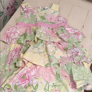 Lilly Pulitzer floral dress 4t